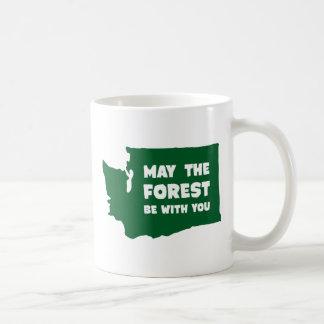 Taza De Café Mayo el bosque sea con usted Washington