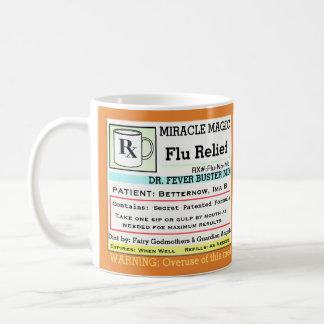Taza De Café Medicina divertida de la gripe de la prescripción