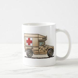 Taza De Café Médico militar de Hummer de la ambulancia