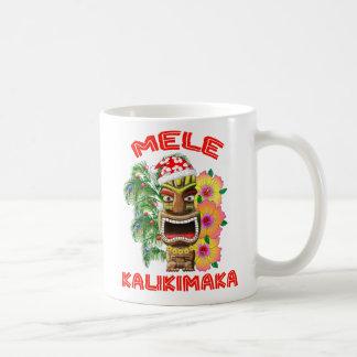 Taza De Café Mele Kalikimaka Papá Noel Tiki