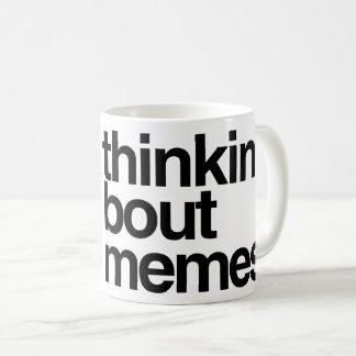 Taza De Café Memes del combate de Thinkin
