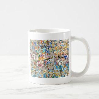 Taza De Café Memorias. Parque Güell. Gran mosaico. Parte 1.