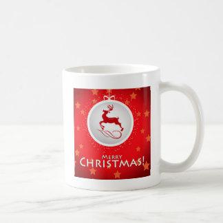 Taza De Café Merry Christmas reindeer Mug