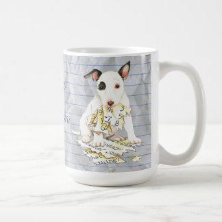 Taza De Café Mi bull terrier miniatura comió mi plan de lección