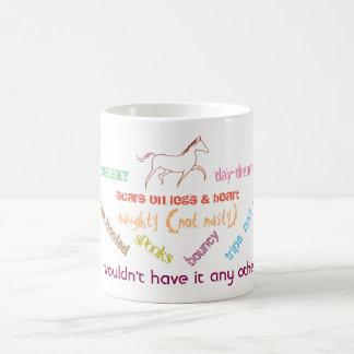 Taza De Café Mi caballo - soñador fresco del día