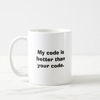 Taza De Café Mi código es mejor que su código