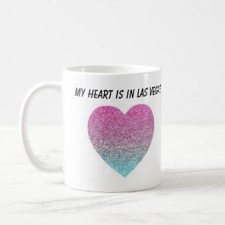 Taza De Café Mi corazón está en Las Vegas