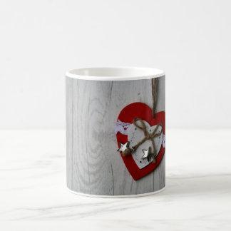 Taza De Café mi corazón para el navidad