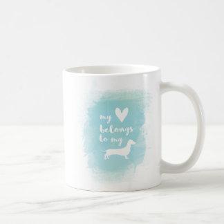 Taza De Café Mi corazón pertenece a mi watercolo de la