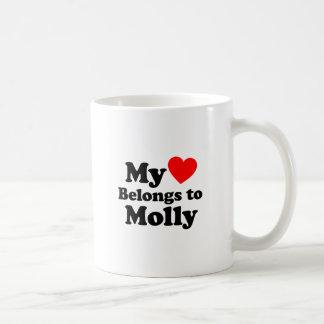 Taza De Café Mi corazón pertenece a Molly
