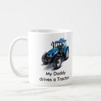 Taza De Café Mi Daddydrives un tractor