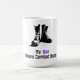Taza De Café Mi hijo lleva botas de combate