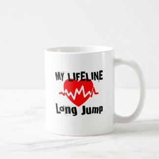 Taza De Café Mi línea de vida salto de longitud se divierte