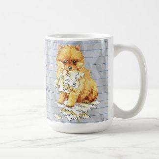 Taza De Café Mi Pomeranian comió mi plan de lección
