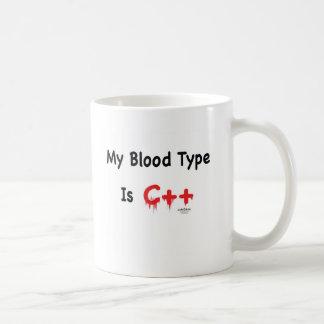 Taza De Café Mi tipo de sangre es c++