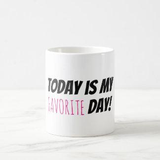 Taza De Café Mi tipografía de motivación del día preferido