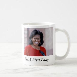 Taza De Café Michelle obama, primera señora del negro