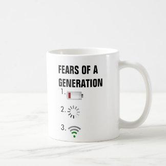 Taza De Café Miedos de una batería baja de la generación, icono