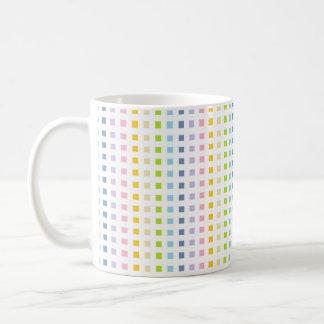 Taza De Café Mini cuadrados en colores pastel del arco iris