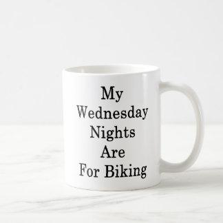 Taza De Café Mis noches de miércoles están para Biking