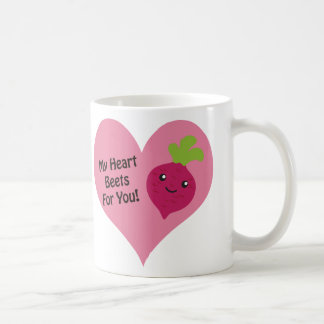 Taza De Café Mis remolachas del corazón para usted