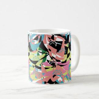 Taza De Café Modelo abstracto geométrico de las formas de los