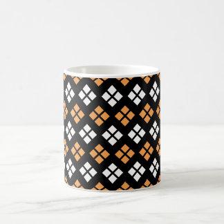 Taza De Café Modelo anaranjado claro y blanco elegante de