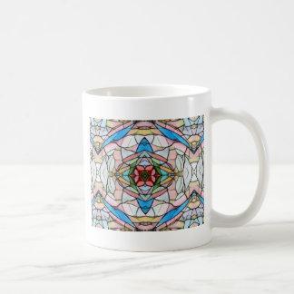 Taza De Café Modelo artístico infrecuente hermoso del vitral