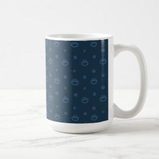 Taza De Café Modelo azul del monstruo de la galleta y de la