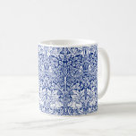 Taza De Café Modelo azul del vintage del conejo de William