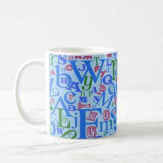 Taza De Café Modelo azul impresionante de las letras