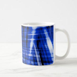 Taza De Café Modelo azul marino de las rayas