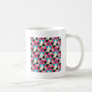 Taza De Café Modelo azul y blanco rosado del triángulo