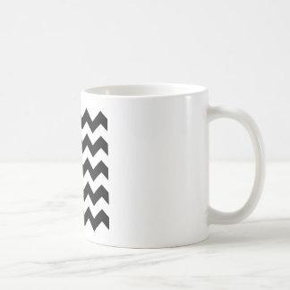 Taza De Café Modelo blanco y negro de Chevron