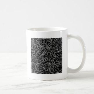 Taza De Café Modelo blanco y negro de conexión en cascada