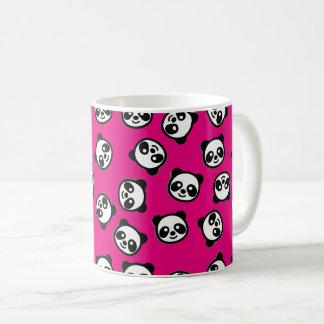 Taza De Café Modelo blanco y negro del dibujo animado de la