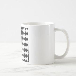 Taza De Café Modelo blanco y negro del Harlequin
