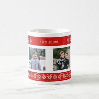 Taza De Café Modelo de encargo del navidad de las fotos del