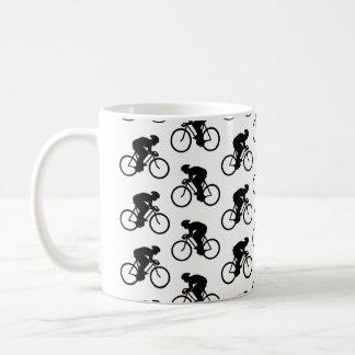 Taza De Café Modelo de la bicicleta en blanco y negro.