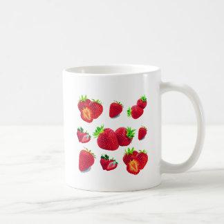 Taza De Café Modelo de la fruta de la fresa