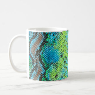 Taza De Café Modelo de la serpiente de la piel del reptil