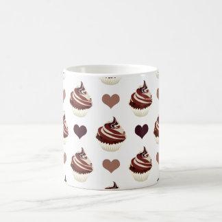 Taza De Café modelo de las magdalenas del chocolate