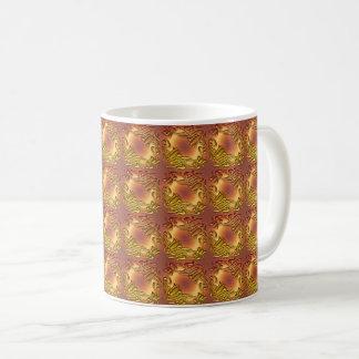 Taza De Café Modelo de oro del damasco floral
