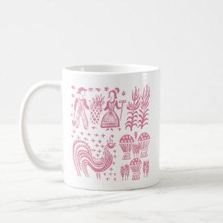 Taza De Café Modelo de Pyrex del vintage - rosa de Butterprint