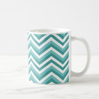 Taza De Café Modelo de zigzag acuático del galón de la turquesa
