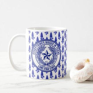Taza De Café Modelo del Bluebonnet del logotipo de Tejas su
