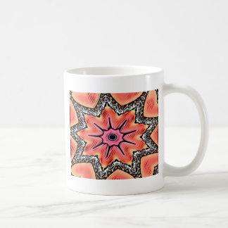 Taza De Café Modelo enrrollado del caleidoscopio rosado del