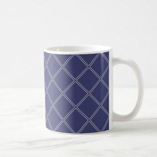 Taza De Café Modelo geométrico del diamante de los azules