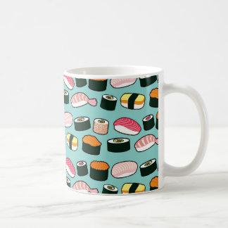 Taza De Café Modelo ilustrado diversión deliciosa del sushi