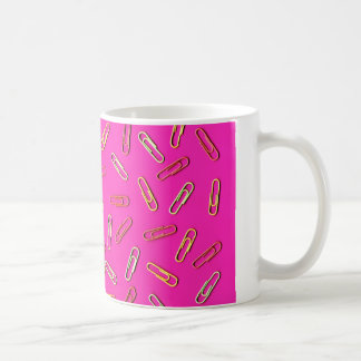 Taza De Café Modelo LINDO del clip de papel en rosa